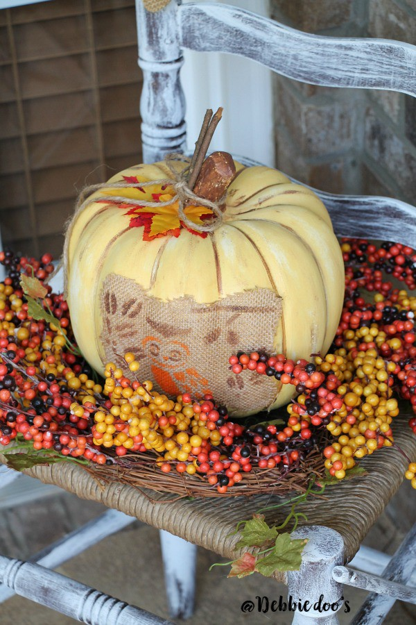Faux pumpkin decorating ideas