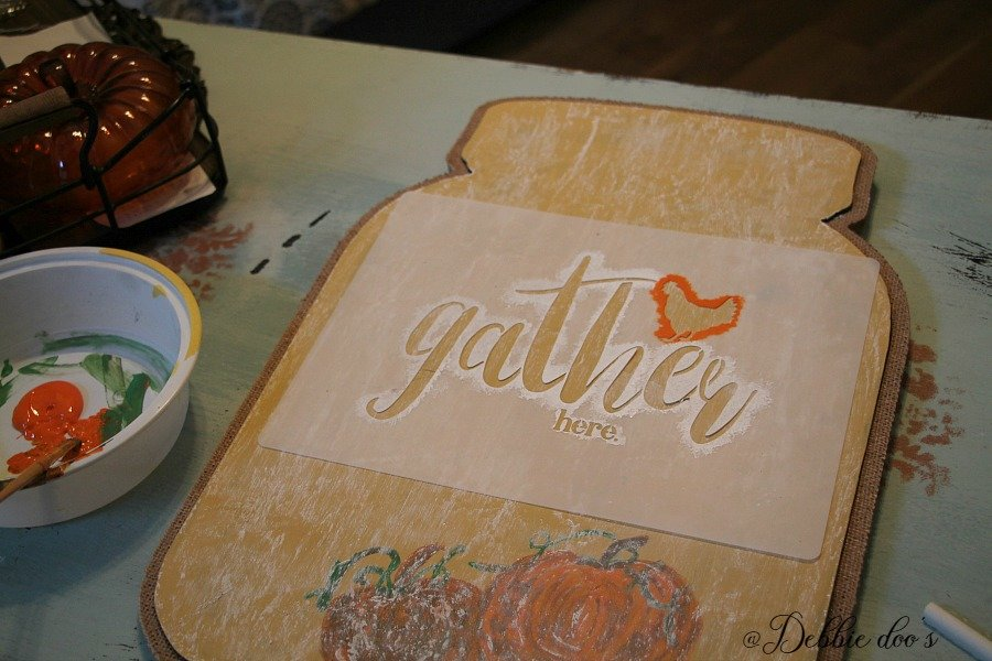 Gather here welcome stencil by Debbiedoo's