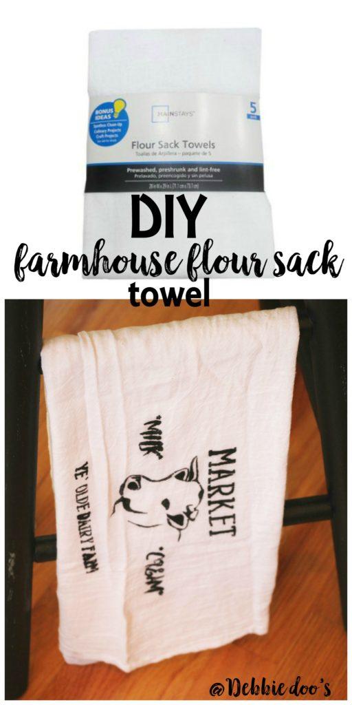 How to make a farmhouse flour sack towel