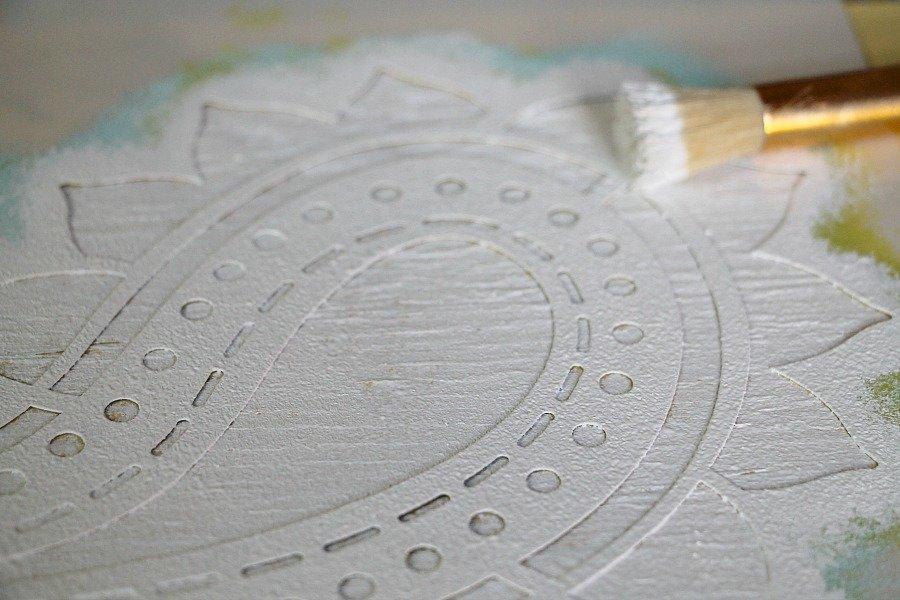 How to stencil with a small stencil bristle brush