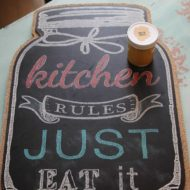 Mason jar kitchen art