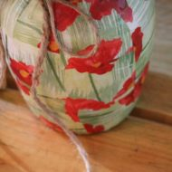 Dollar tree poppy vase