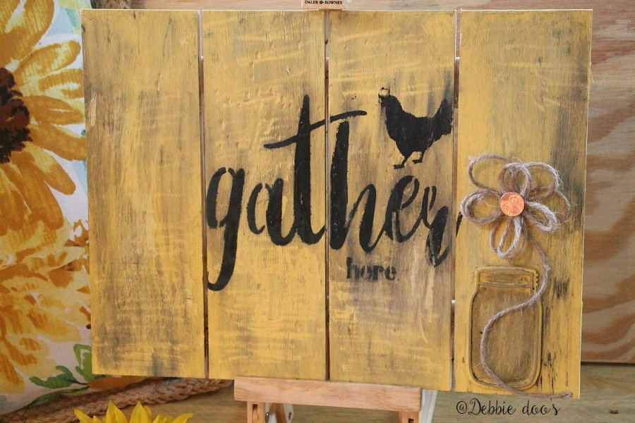 Old weathered diy pallet sign with custom made stencil by Debbiedoo's