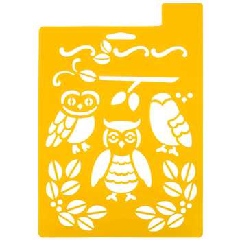 Owl stencil from hobby lobby