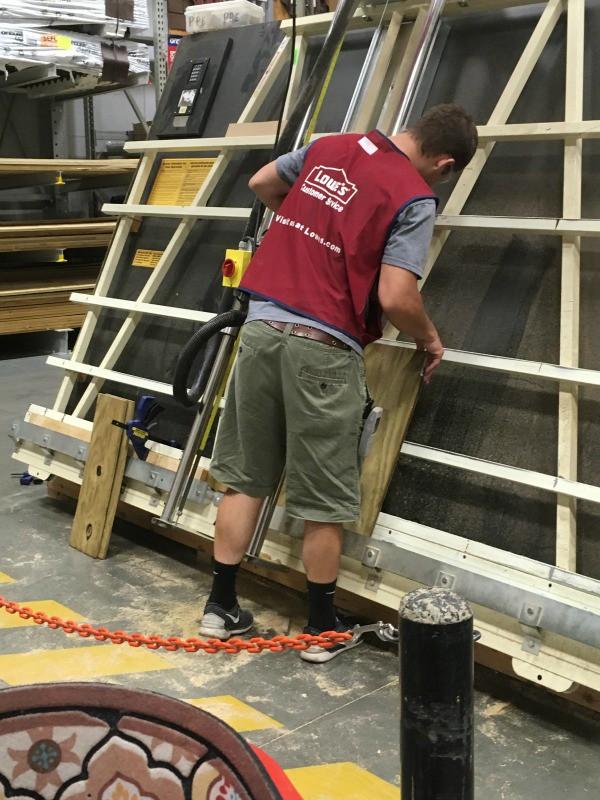 lowes hardware cutting wood