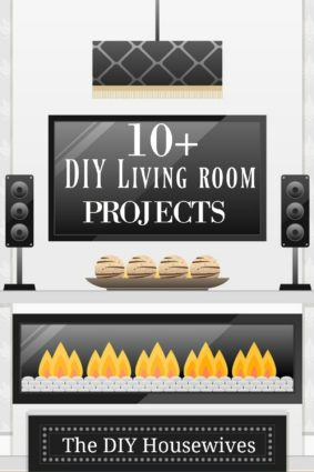 10+ Diy living room projects presented by the DIY housewives