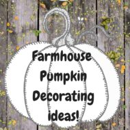 10+Farmhouse pumpkin decorating ideas