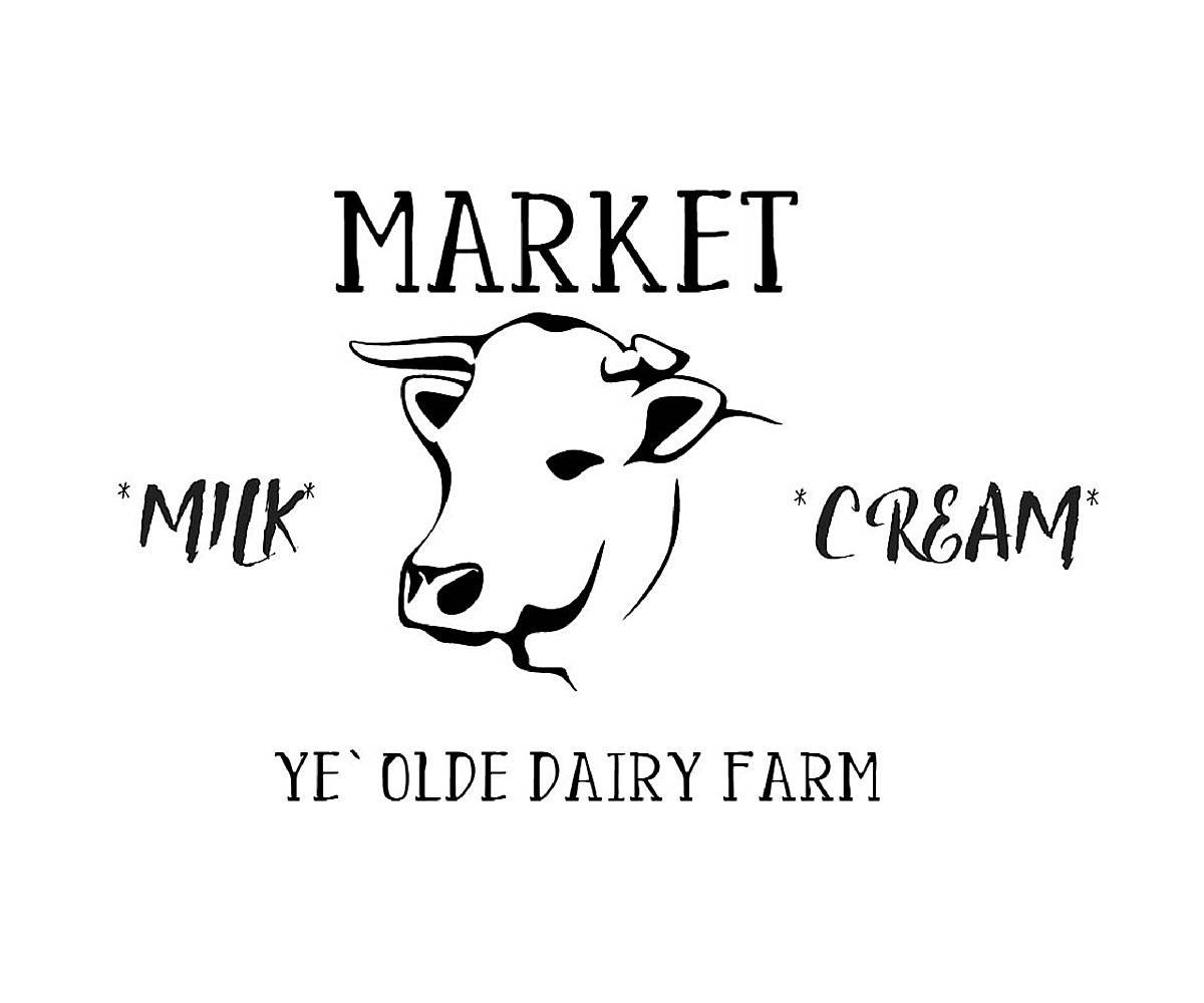 Market cow Farmhouse stencil for painting signs and furniture