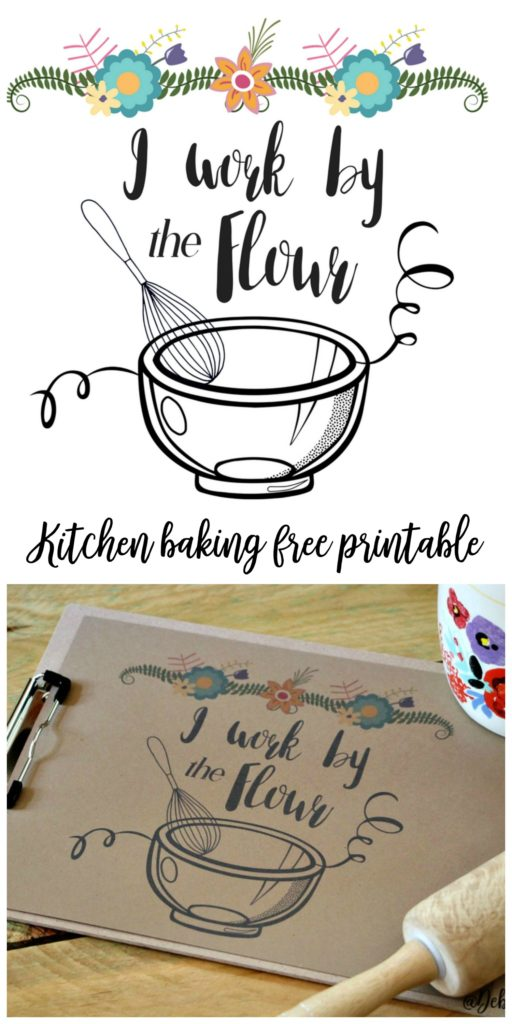 Cutest kitchen baking free printable