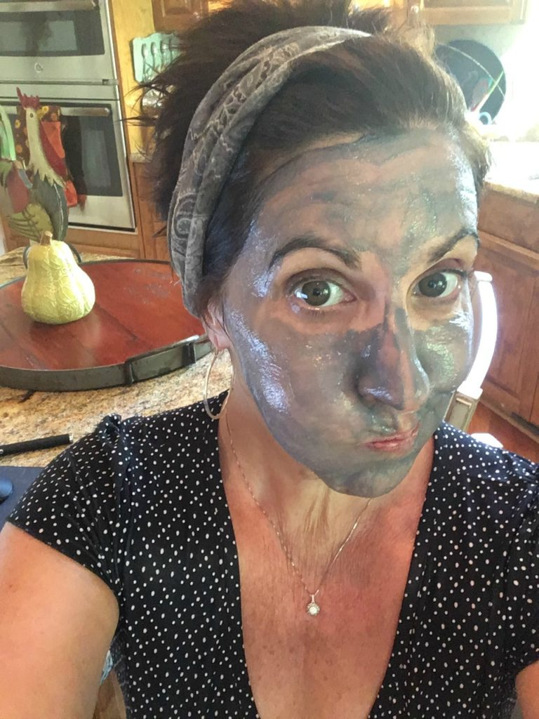 Debbiedoo's with mud mask. Tea tree oil organics