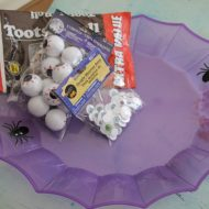 Dollar tree Halloween tray makeover