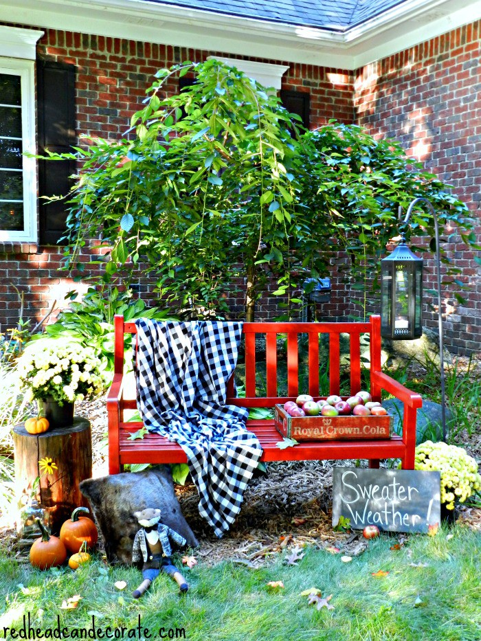 fall-red-bench-idea