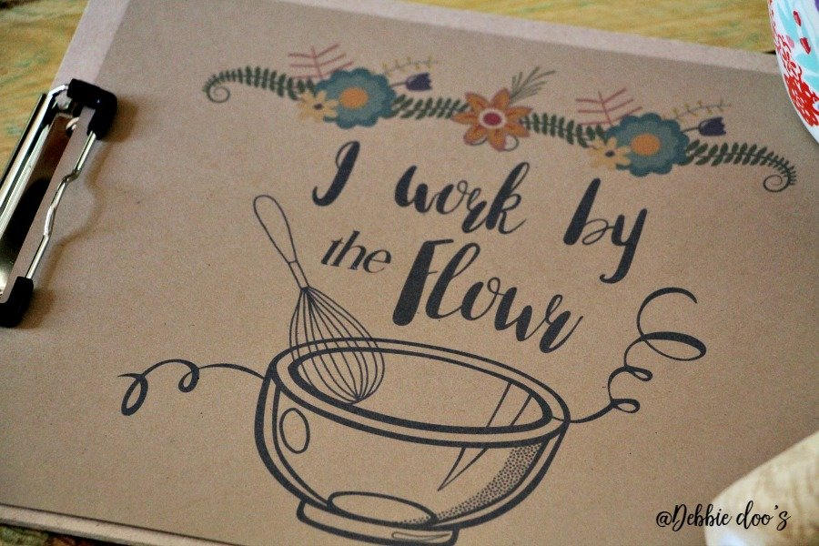 I work by the flour free printable