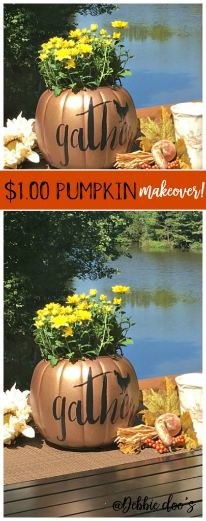 originally-purple-pumpkin-bought-at-walmart-for-1-00-makeover-with-spray-paint-and-gather-stencil-by-debbiedoos