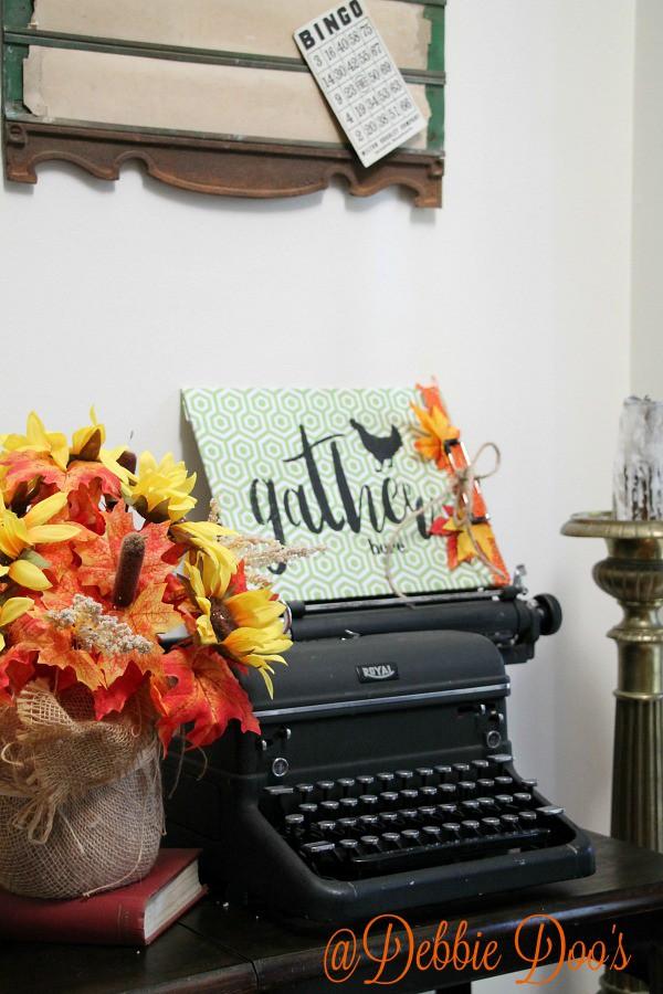 Royal typewriter and typewriter desk
