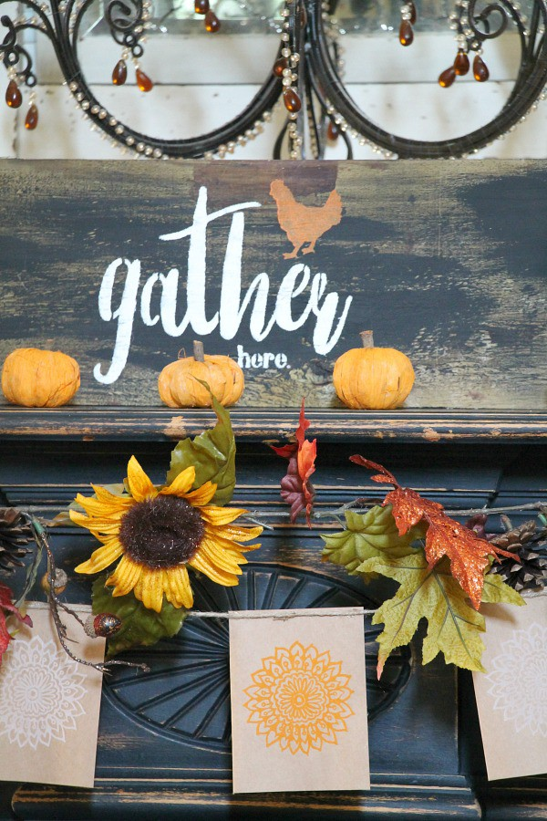 gather here rustic diy sign