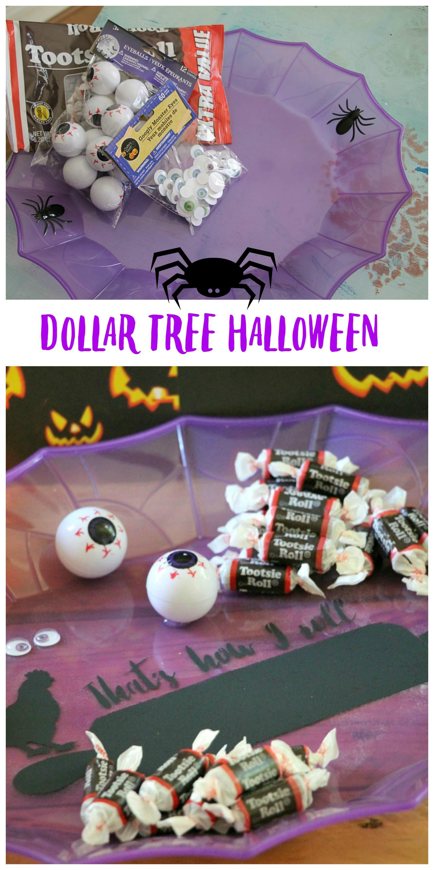 Dollar tree Halloween tray makeover - Debbiedoos
