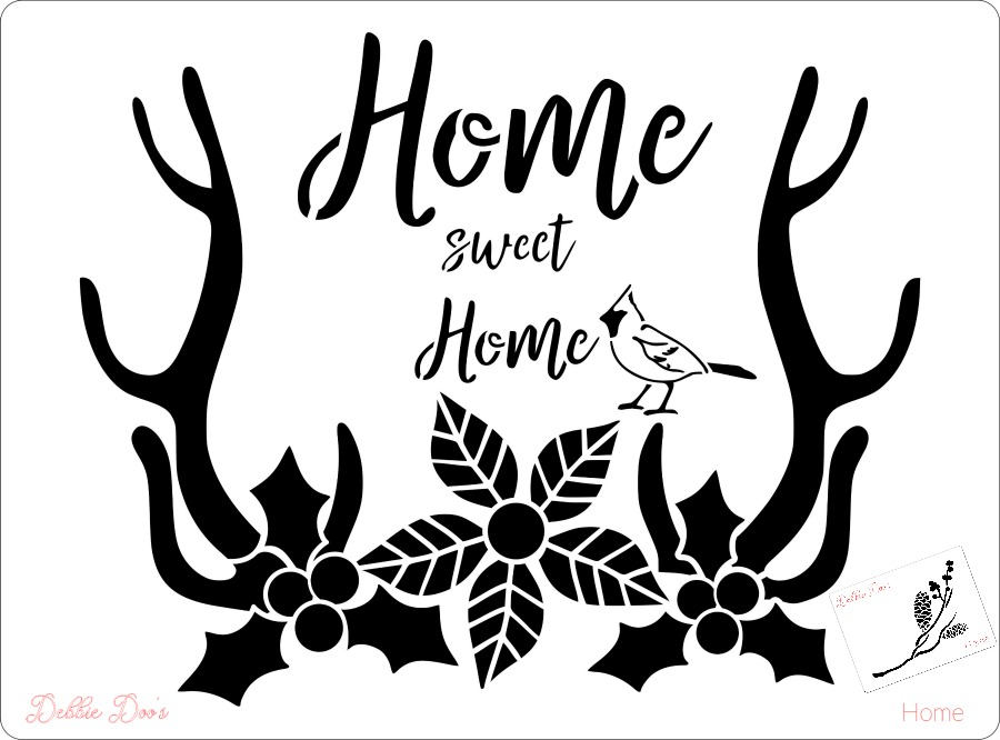 home-sweet-home-with-bonus-mini-stencil-of-pine-cones-and-berry-sprig