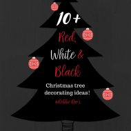 Red, White, and Black Christmas tree decorating ideas