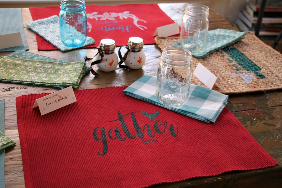 Cute and festive holiday table setting on a budget