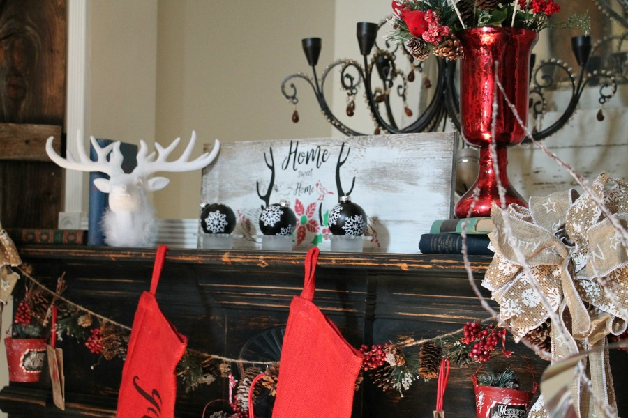home-sweet-home-stencil-by-debbiedoos-and-christmas-mantel-decorating-ideas