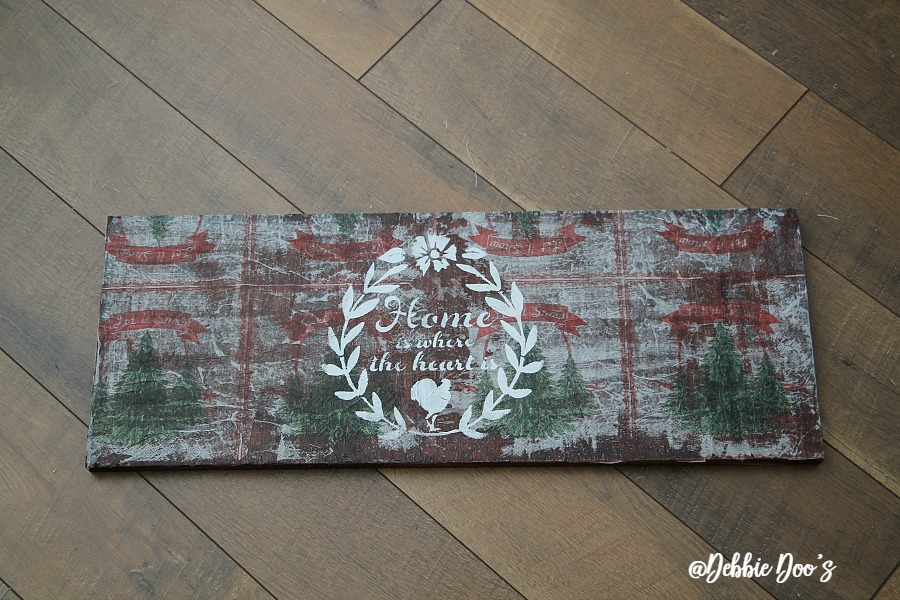 How-to-create-a-rustic-board-with-mod-podge-and-napkins. Mod Podge On Wood With Napkins