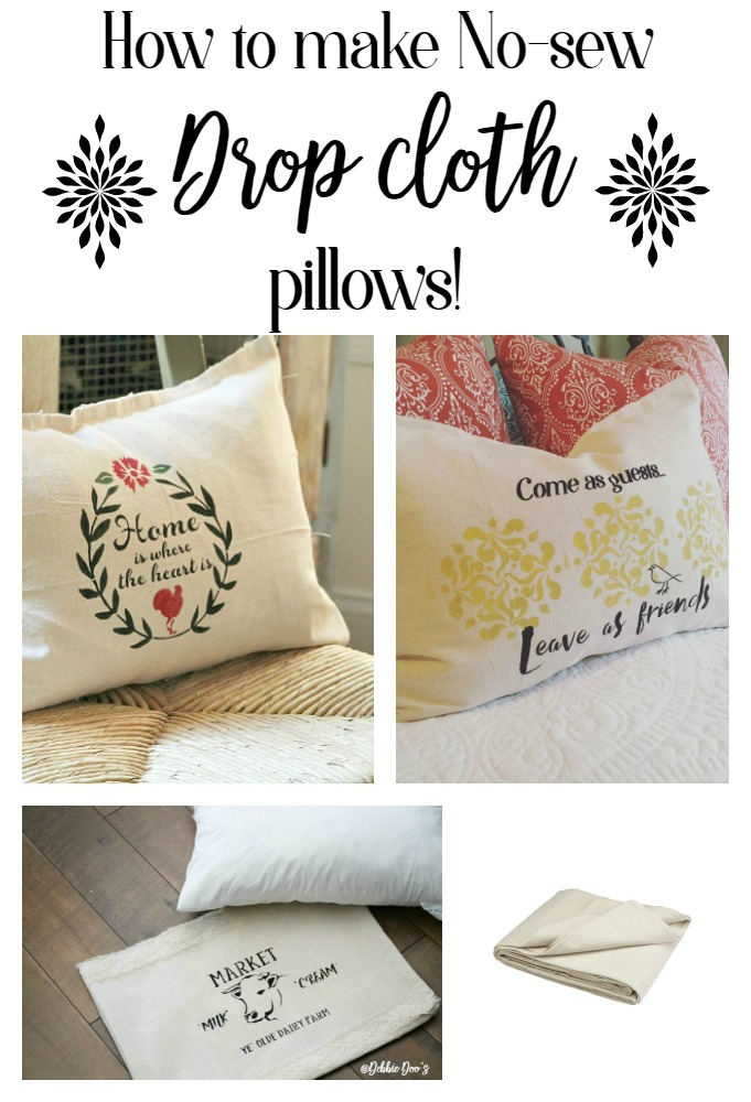 how-to-make-no-sew-drop-cloth-pillows