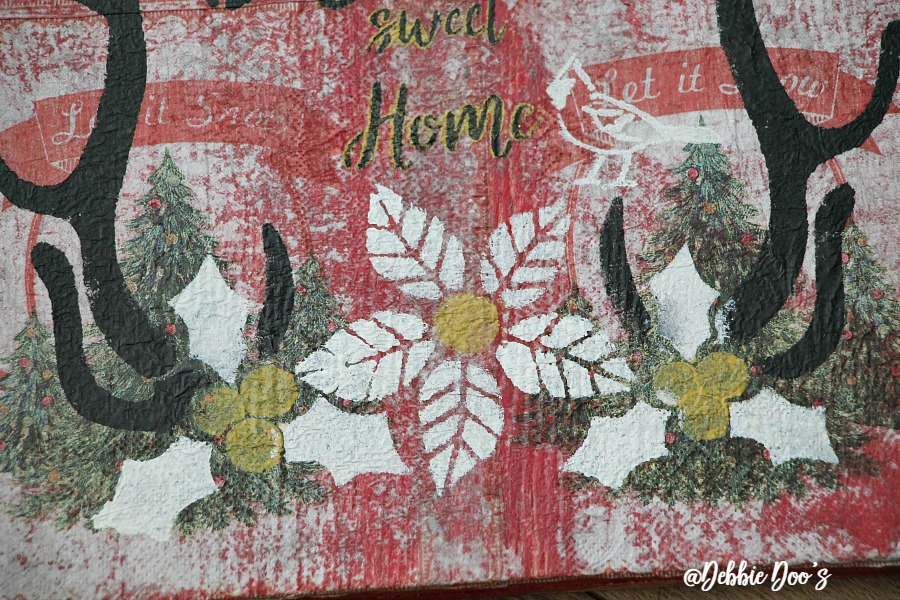 winter-sign-with-napkins-and-mod-podge-and-debbiedoos-home-sweet-home-stencil