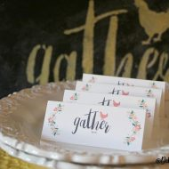 Holiday place setting cards