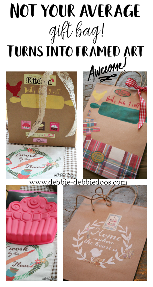 Make a gift bag into a work of art