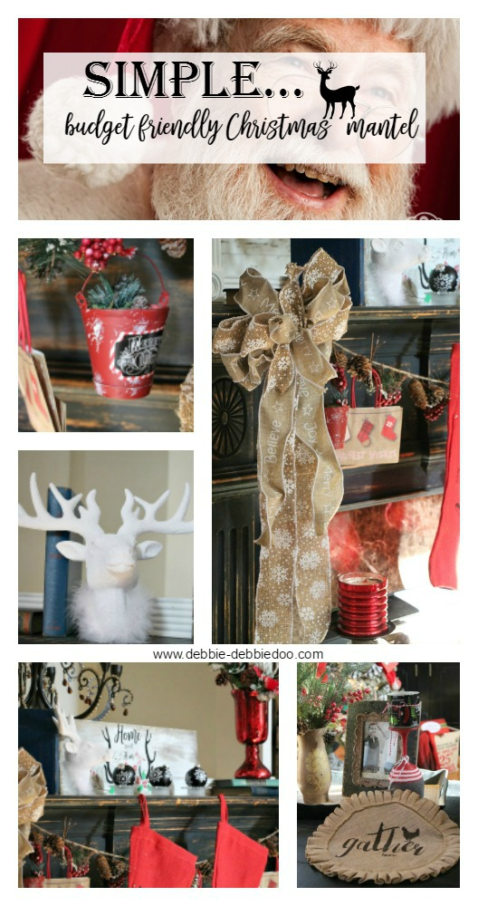 Budget friendly Christmas mantel decorating ideas