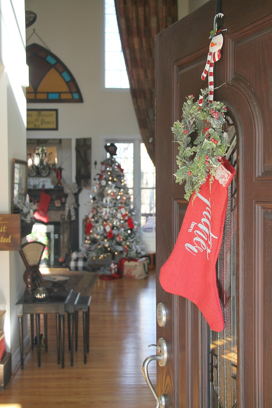 Decorating with red white and black for christmas debbiedoos welcoming greeting for the holiday kristyandbryce Images