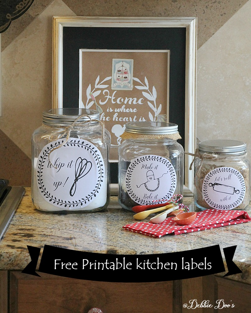 free kitchen printable labels for canisters or more custom kitchen canister labels printables pinterest