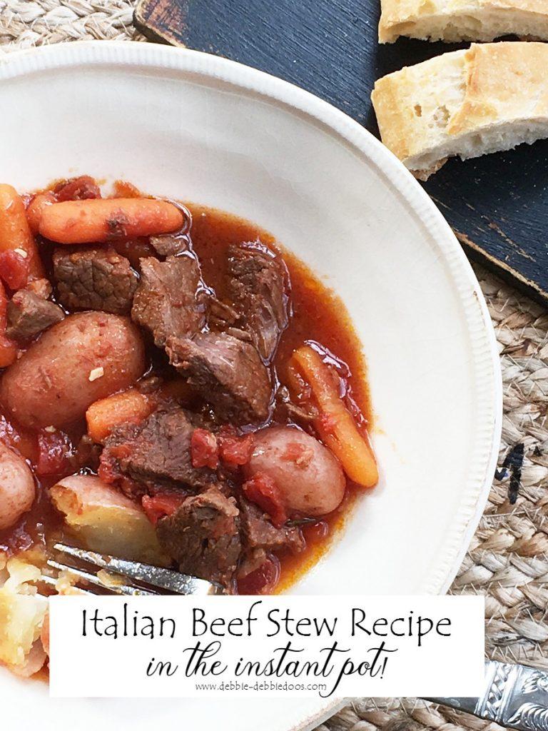 italian beef stew recipe in the instant pot debbiedoos. Black Bedroom Furniture Sets. Home Design Ideas
