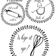 Free kitchen printable labels for canisters or more