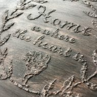 How to stencil using plaster of Paris