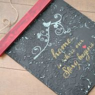 Plaster of Paris diy sign and a video