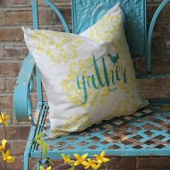 DIY custom linen pillow customized two ways