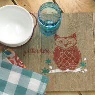 DIY rustic serving tray