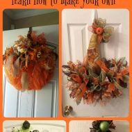 Dollar tree pumpkin and witches hat wreaths