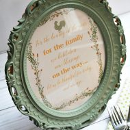 A gaudy picture frame makeover