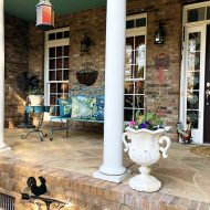 Porch decorating for the spring season