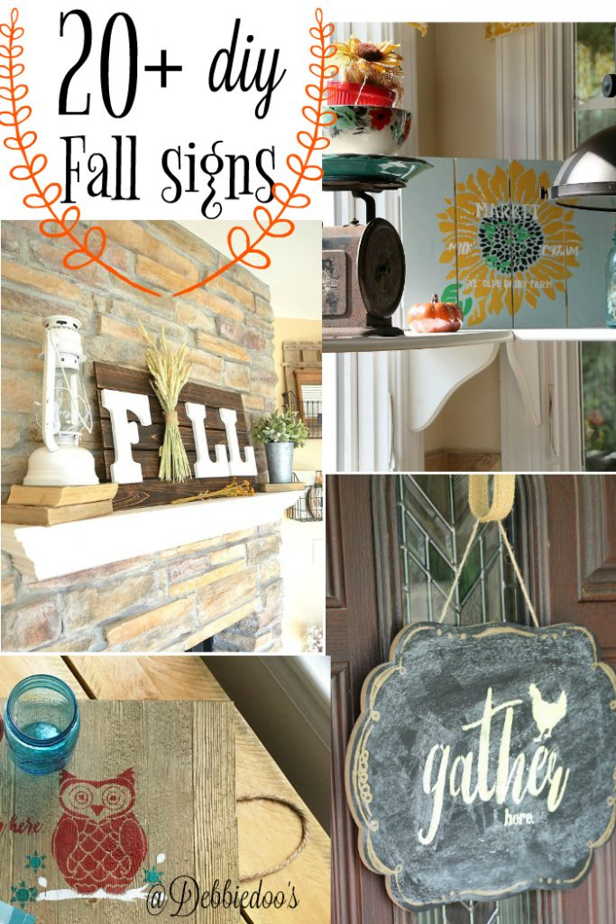 20+ DIY Fall signs you can make today