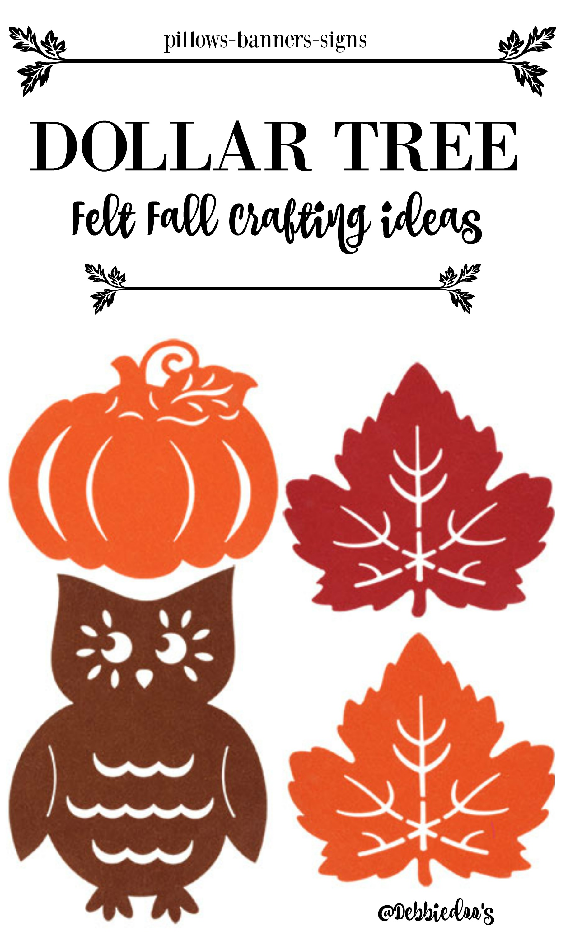 Dollar Tree Fall Felt Craft Ideas Debbiedoos