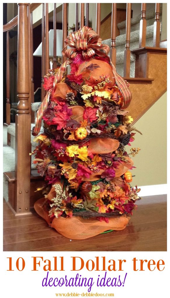 Festive fall decorating tree ideas
