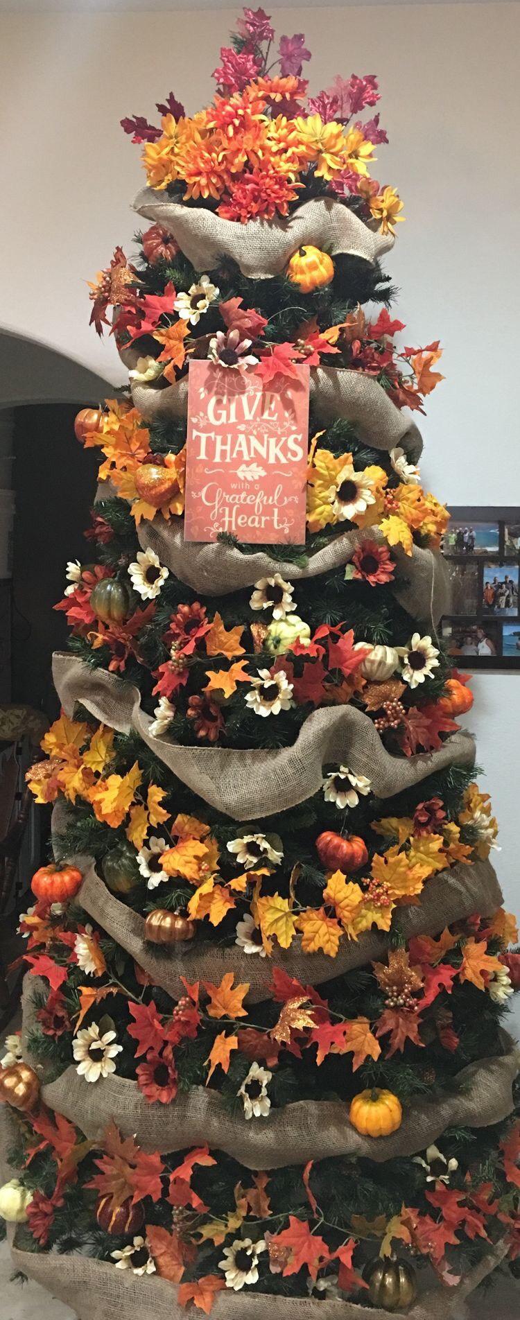 Festive Fall Decorating Tree Ideas Debbiedoos