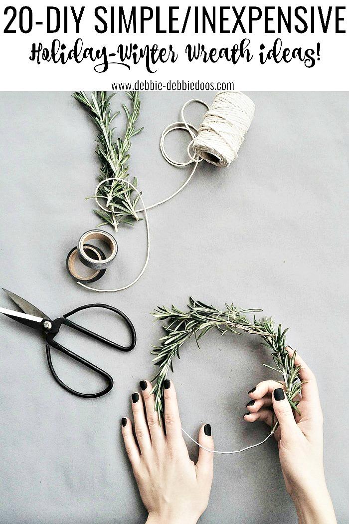 20 Diy Holiday And Winter Wreath Ideas Debbiedoos