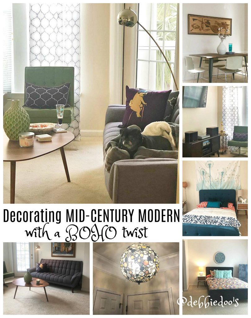Decorating a Condo with Mid Century Modern style - Debbiedoos