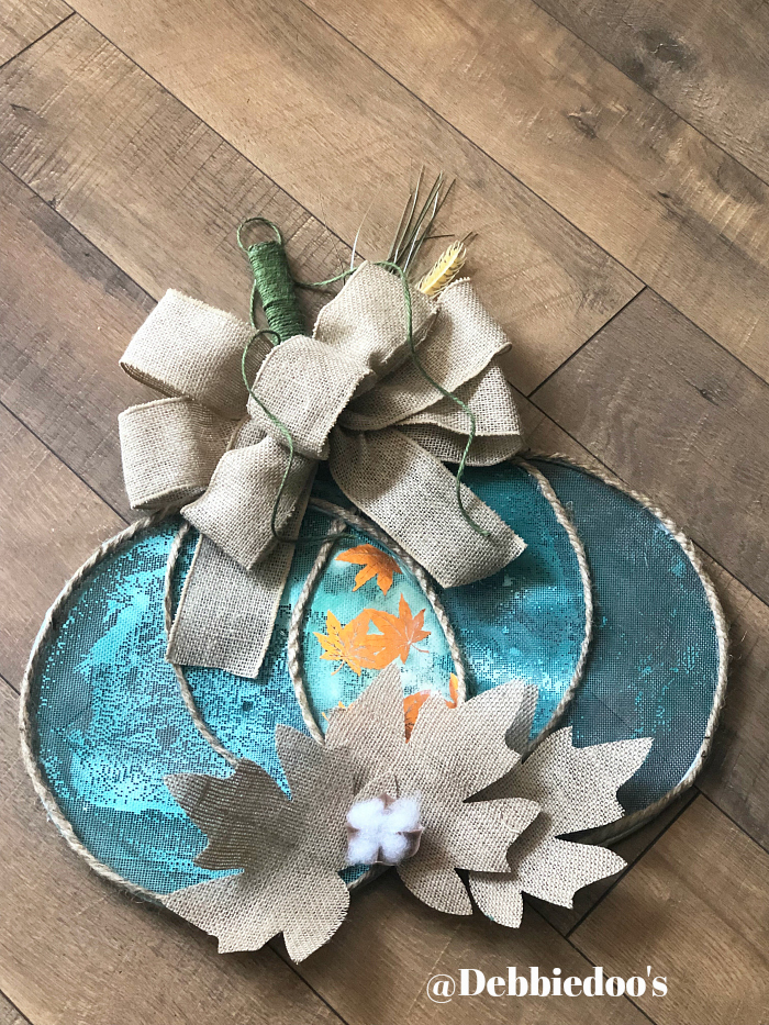 Dollar tree Pumpkin Splatter screen wreath