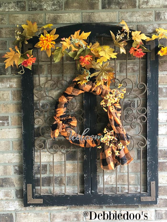 Dollar tree Fall Scarf Wreath